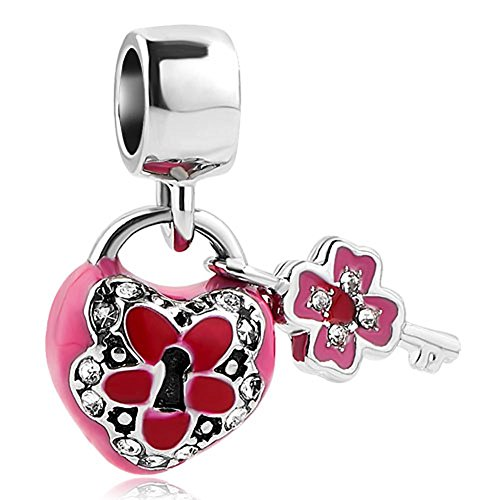 Third Time Charm Key To My Heart Charm Lock And Key Beads For Bracelets