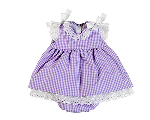Bee nene Baby Girl Toddler Dress & Panty Sleeveless Diaper Cover with Lace & Bow Purp 4T