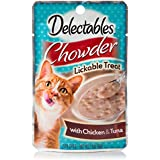 Delectables Chowder Lickable Wet Cat Treats - Chicken & Tuna - 12 Pack