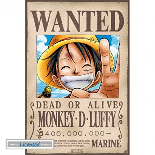 1art1 One Piece - Wanted Monkey D. Luffy Póster Mini (52 x ...