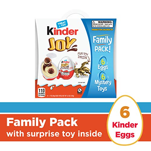 (Kinder Joy Chocolate Candy Eggs with Surprise Toy Inside, Easter Basket Stuffers, 6 Count 4.2)