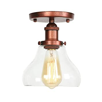 Amazon.com: Ganeep Vintage Glass LED Ceiling Lights Fixtures ...
