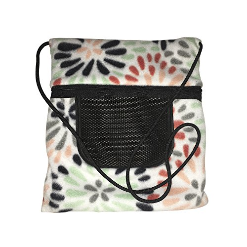 The Kozy Kritter Multi Color Flower Seamless All Fleece Sugar Glider bonding Pouch and Other Small Animals