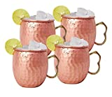 Product review for Solid Copper Moscow Mule Mug Handcrafted - 16oz Authentic with No Inner Lining (4 pack)