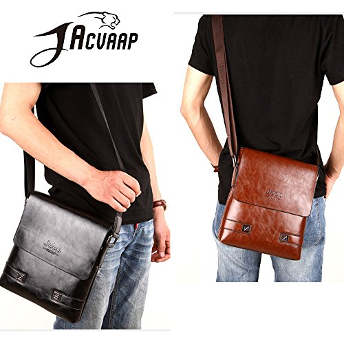 Hand Small Popular Brown Waterproof Bronze Three All Tote jn1006 d Colors Lightweight Leather Bag Black Pu Men's Shoulder Casual 3way xRZAvOq