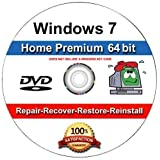 Windows 7 Home Premium 64-Bit Install | Boot | Recovery | Restore DVD Disc