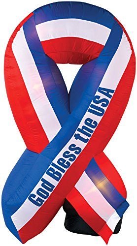 God Bless America Inflatable Patriotic Ribbon 6'