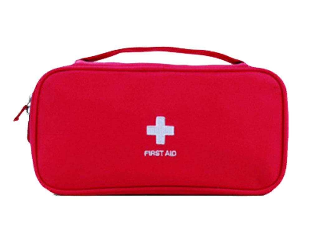 Travel Outdoor Supplies First Aid Kit Portable Medicine Storage Bag,Red