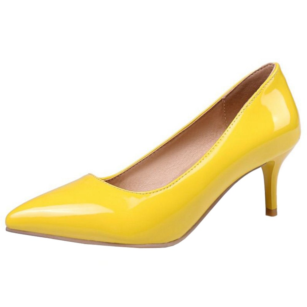 26728a22b17 Smilice Women Plus Size US 0-13 Mid Mid Mid Heel Pointy Toe New Dress Pumps  6 Colors Available New B074RGBN3S 48 EU   US 13   29 CM
