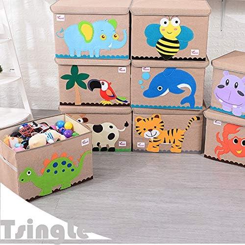 TsingLe - Baúl de almacenamiento con tapa, tamaño grande, de tela ...