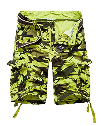 Allenamento Estivi Libero Camo Grün Uomo Basic Il Cargo Pantaloncini All'aperto Tempo Abbigliamento Da Pantaloni Sportivi Festivo Per Larghi Bermuda 7dqRn