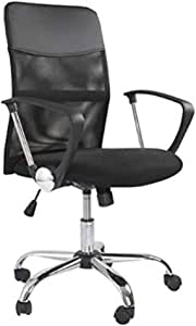Mahmayi Sarah 4Dm Low Back Executive Mesh Office Chair With Adjustable Seat Design and Breathable Mesh Backrest Low Back Chair (Black)