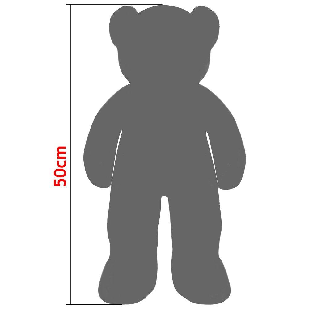 Gran Oso de peluche marrón, 50 cm - osito gigante con pelo suave - oso de peluche de alta calidad -Suave, sedoso y mullido - Fabricación de alta calidad: ...