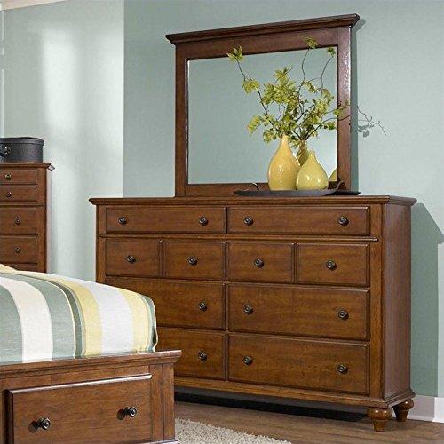 e Cherry Landscape Dresser Mirror, Brown ()