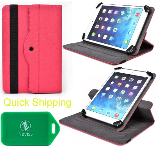 aroid S7 , Polaroid A7 , Polaroid V7 , Polaroid Q7 Protective Tablet travel case and stand with landscape and portrait veiwing options(Fuschia) ()