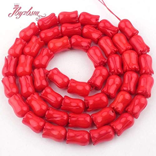 Calvas 6x9mm Carve Flower Coral Beads Natural Stone Beads for DIY Necklace Bracelets Eaaring Pandant Jewelry Making 15