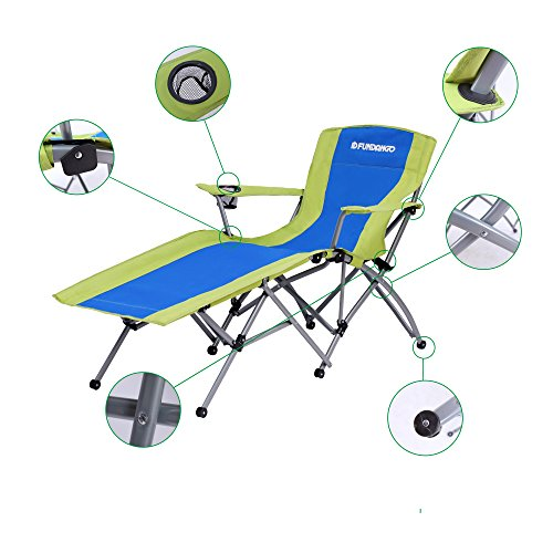 FUNDANGO Heavy Duty 264 lbs. Lounger reclining chair for Garden Patio and Outdoor, 34 × 59 × 20/33.8 inches, 7.5 kg / 16.5 lbs.