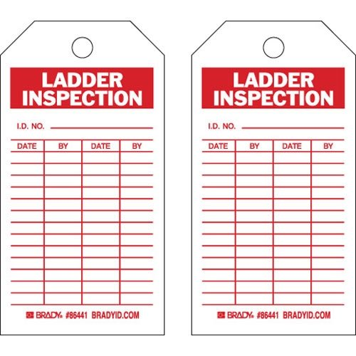 Brady 86441, Ladder Tag, (10 Packs of 10 pcs) by Brady