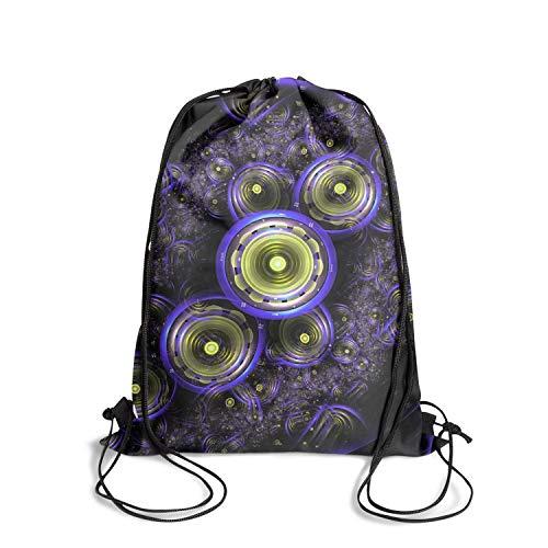 Designer drawstring backpack abstract modern sackpack bag athletic sinch sack