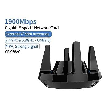 CF-958AC de Alta Potencia PA WiFi Adaptador de Tarjeta ...