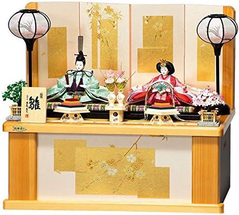 雛人形 平安豊久 ひな人形 雛 コンパクト収納飾り 親王飾り あかり 柳親王揃 天竜檜 h023-mo-304016 HE-097