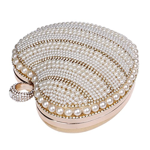 Lujo Banquete Las Señoras Crossbody Perla Vestido Del De Mujeres La color Ploekgda Silver Bolso Gold HSaUc8