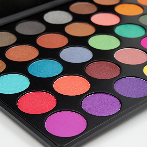 Miskos 35 Colors Professional Makeup Eyeshadow Pallet Shimmer Matte Eye Shadow Set Cosmetic Product #35 Series (35A)