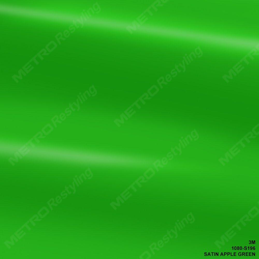 3M 1080 S196 Satin Apple Green 5ft x 60ft (300 Sq/ft) Car Wrap Vinyl Film