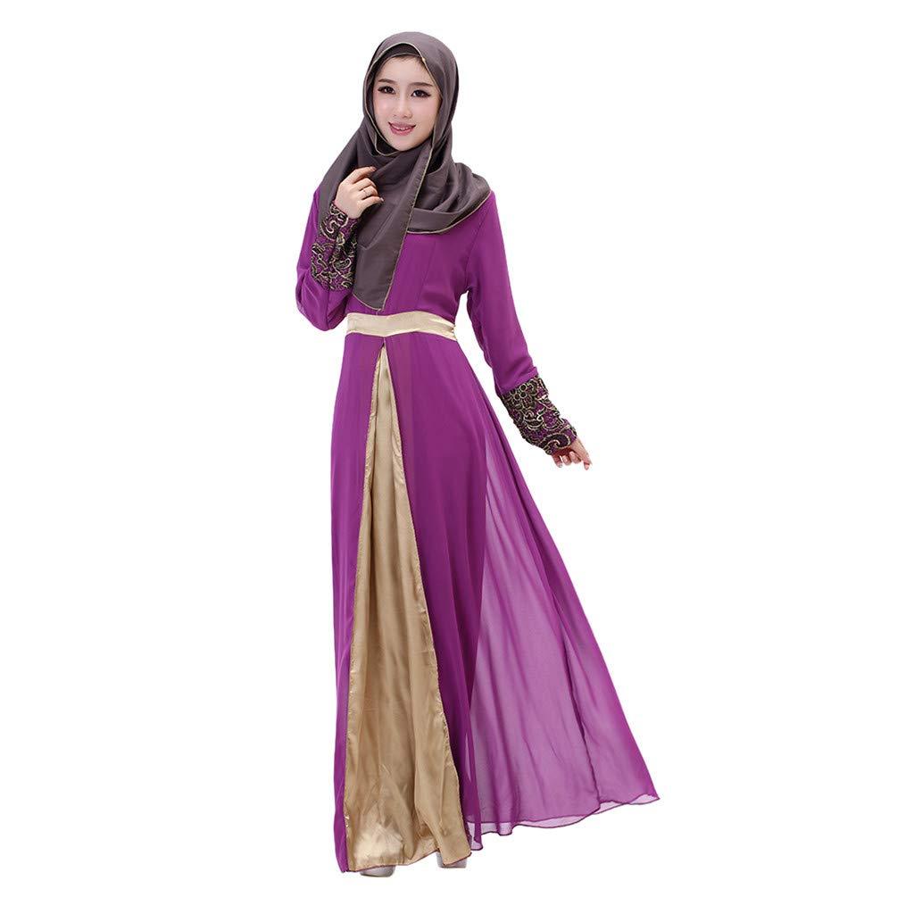routinfly-Abbigliamento musulmano Vestido Largo de Mujer musulmán ...