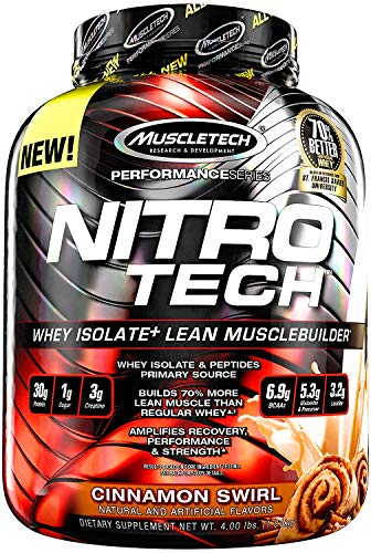 - Muscletech, Nitro Tech, Whey Isolate + Lean Musclebuilder, Cookies and Cream, 3.97 lbs (1.80 kg) - 2pc