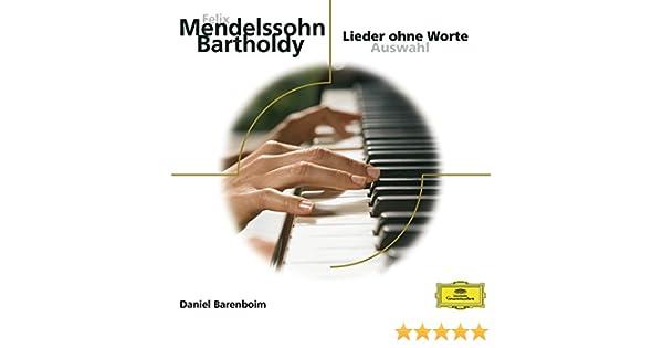 Mendelssohn: Lieder ohne Worte de Daniel Barenboim en Amazon Music ...