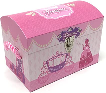 Las niñas Rosa y morado princesa cofre del tesoro. Caja de juguetes baúl de almacenamiento.: Amazon.es: Hogar