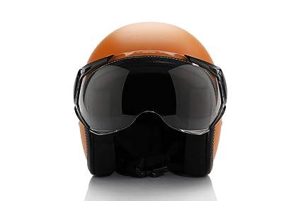 Vespa Colour Helmet Orange Size L Amazon In Car Motorbike