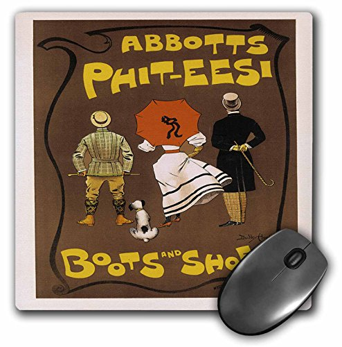 3dRose BLN Vintage Les Maitres de l Affiche Poster - Vintage Abbotts Phit-eesi Boots and Shoes Advertising Poster - MousePad (mp_149356_1)