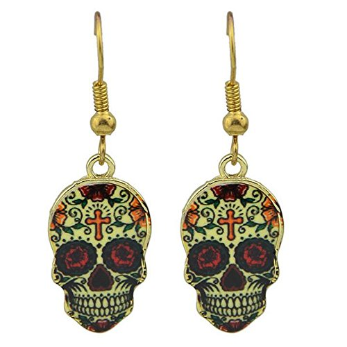 Luck Wang Woman's Unique Fashion Personality Punk Color Skeleton Drops Earrings
