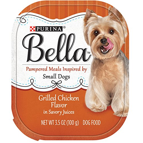 Purina Bella Small Breed Pate Wet Dog Food; Grilled Chicken Flavor in Savory Juices - 3.5 oz. Tray - Grilled Chicken Flavor