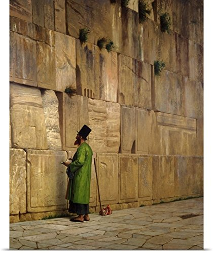 Jean Leon Gerome Poster Print entitled The Wailing Wall, 1880