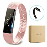 Fitness tracker watch, Hembeer V1 Smart Band with Step Tracker, Pedometer Bluetooth Bracelet Activity Tracker/ Sleep Monitor, Calories Track Sweatproof Health Band for iPhone & Android phones, Pink