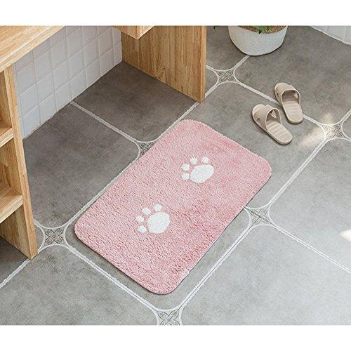 ELEOPTION Bath Mat Sets for Bathroom, 2 Piece Non Slip Bathroom Rug Set and Contour Mat Non-Slip Pedestal Super Absorbent Machine Wash (Pink) by ele ELEOPTION (Image #3)