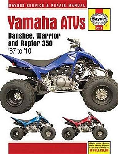 [DIAGRAM_38ZD]  Amazon.com: Yamaha ATVs Banshee, Warrior and Raptor 350 '87 to '10 (Haynes  Service & Repair Manual) (9781620921562): Editors of Haynes Manuals: Books | Wiring Diagram Raptor 350 2006 |  | Amazon.com