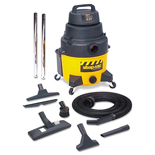 Shop-Vac Industrial Wet/Dry Vacuum, 12 Gallon, 2.5hp, Yellow/Black - 12 Gallon Canister