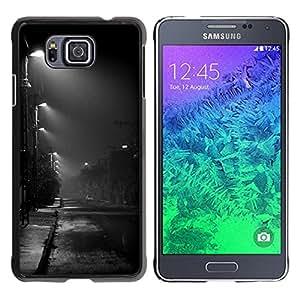 For Samsung GALAXY ALPHA G850 Case , Night Road City Rain Fall Autumn - Diseño Patrón Teléfono Caso Cubierta Case Bumper Duro Protección Case Cover Funda
