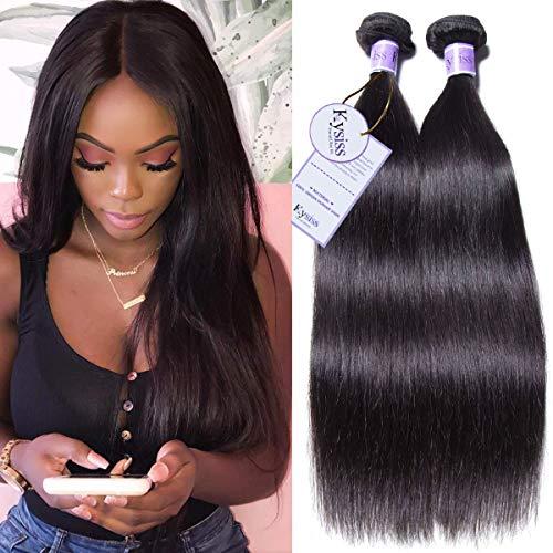 UNice Hair Kysiss Series Brazilian Straight Hair 1 Bundle Virgin Human Hair Weave 100% Unprocessed Human Hair Extensions Natural Color (30inch)