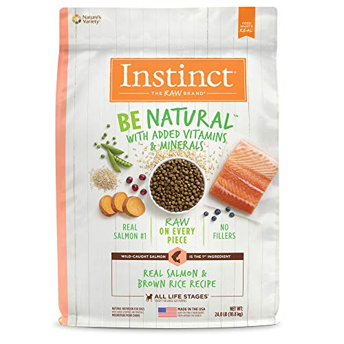 Instinct Be Natural Real Salmon & Brown Rice Recipe Natural Dry Dog Food by Nature's Variety, 24 lb. Bag