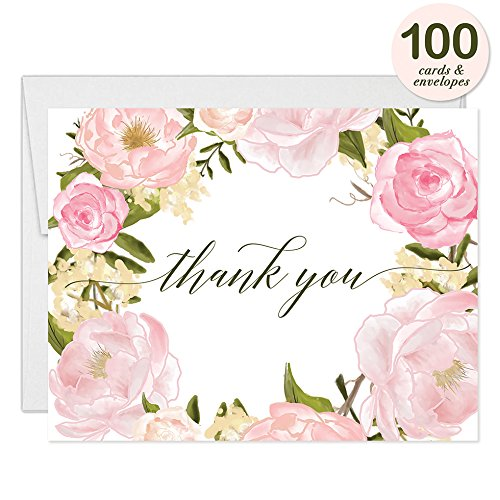 All Occasion Invites ( 100 ) & Thank You Cards ( 100 ) Matched Set with Envelopes Any Large Event Graduation Birthday Shower Fill-in-Style Guest Invitation & Folded Thank You Notes Great Value Pair by Digibuddha (Image #4)