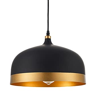 Great Ohr Lighting Lisse Saturn Gold U0026 Black Pendant Light Lamp Shade, Modern  Style Interior .     Amazon.com