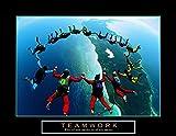 Teamwork Skydiving Ring Motivational Poster Inspirational 28x22 Art Poster Print, 28x22 Collections Art Poster Print, 28x22