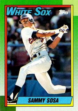 1990 Topps Baseball 692 Sammy Sosa Rookie Card