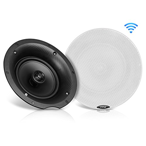 "Pyle Pair 8.0"" Bluetooth Universal Flush Mount In-wall In-ceiling 2-Way Speaker System Dual Polypropylene Cone & Polymer Tweeter Stereo Sound 400 Watts (PDICBT87) by Pyle"