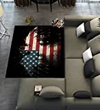 Unique Carpet Floor Rugs Mat for Home Living Dining Room Playroom Decoration,Abstract Bald Eagle American Flag the U.S Flag Stars and Stripe Flag Area Rugs 7'x5′ For Sale